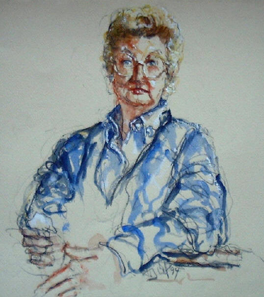 Courtroom sketch of Elisabeth Cons-Boutboul