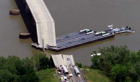 Interstate 40 and the Arkansas River May 26, 2002