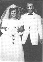 Charles and Kathy on their wedding day