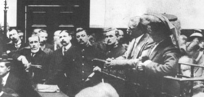 Crippen and Le Neve in the dock