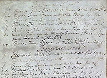 Dick Turpin's Baptism record (fifth one down). Reproduced by Essex Record Office.