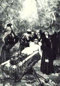 Father Urbain Grandier being tortured