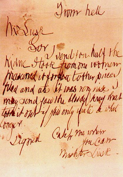 Jack the Ripper's &quot;From Hell&quot; Letter