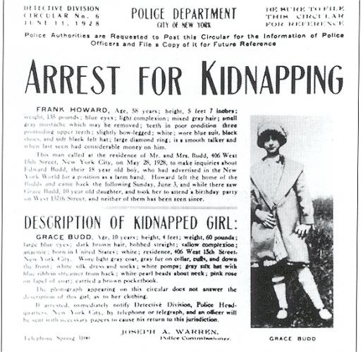Grace Budd kidnap flyer