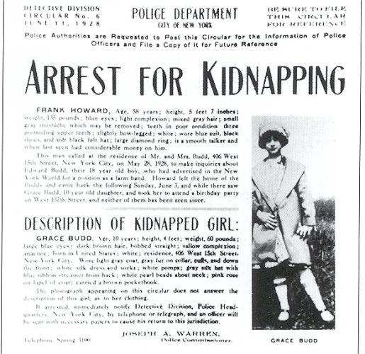 Grace Budd kidnap flyer