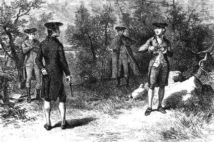 Aaron Burr and Alexander Hamilton Duel