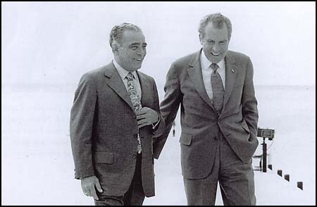 "Charles Gregory ""Bebe"" Rebozo and Richard Nixon"