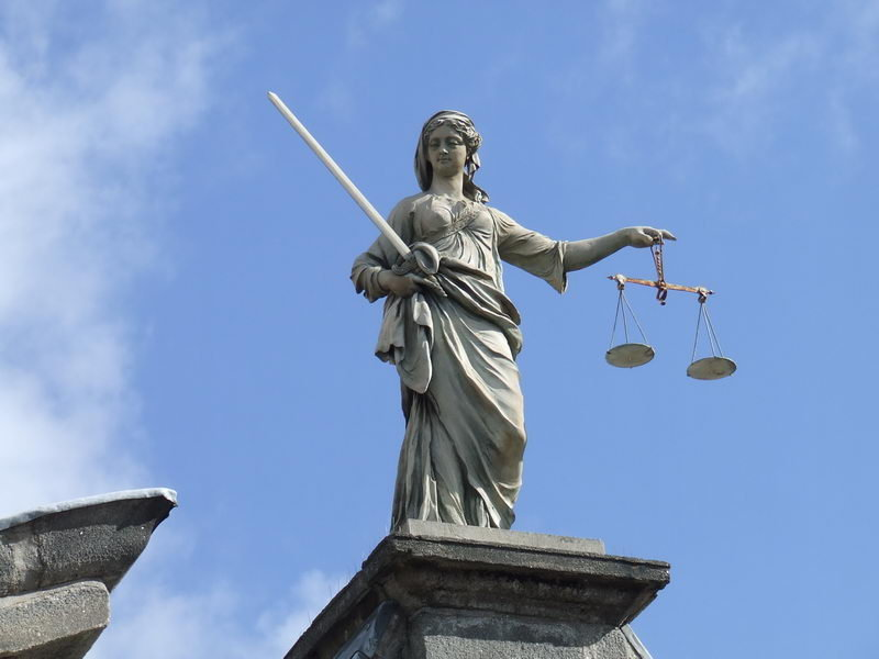 The statue of Lady Justice at Dublin Castle