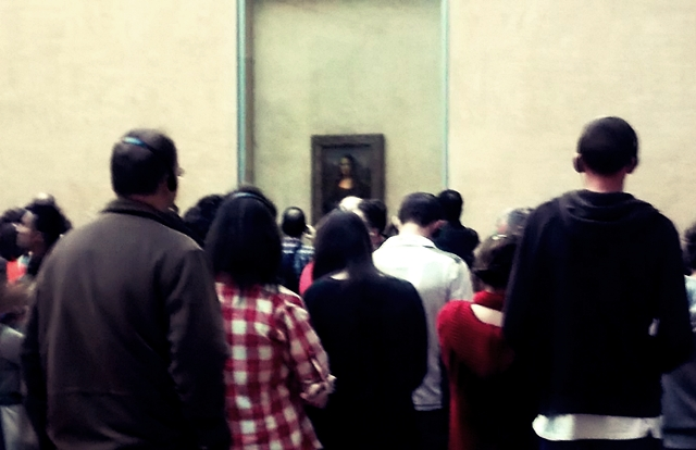 There is always a crowd admiring the Mona Lisa