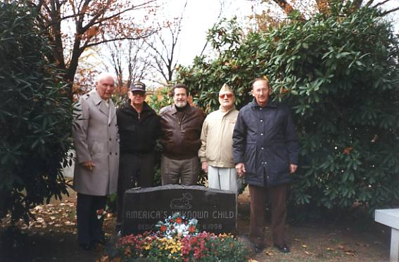 Investigators at the 2000 Memorial to the Boy in the Box: From left to right: William Kelly, VSM; Joseph McGillen, VSM; William L. Fleisher, VSM; Sam Weinstein, VSM; and Elmer Palmer.