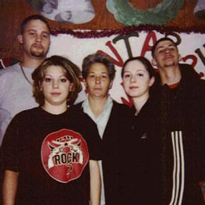 Nancy Smith, center, with her four teenage children.