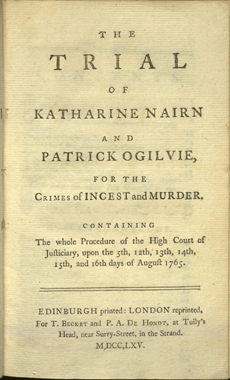 The murder of Thomas Ogilvie (Photo www.brynmawr.edu)