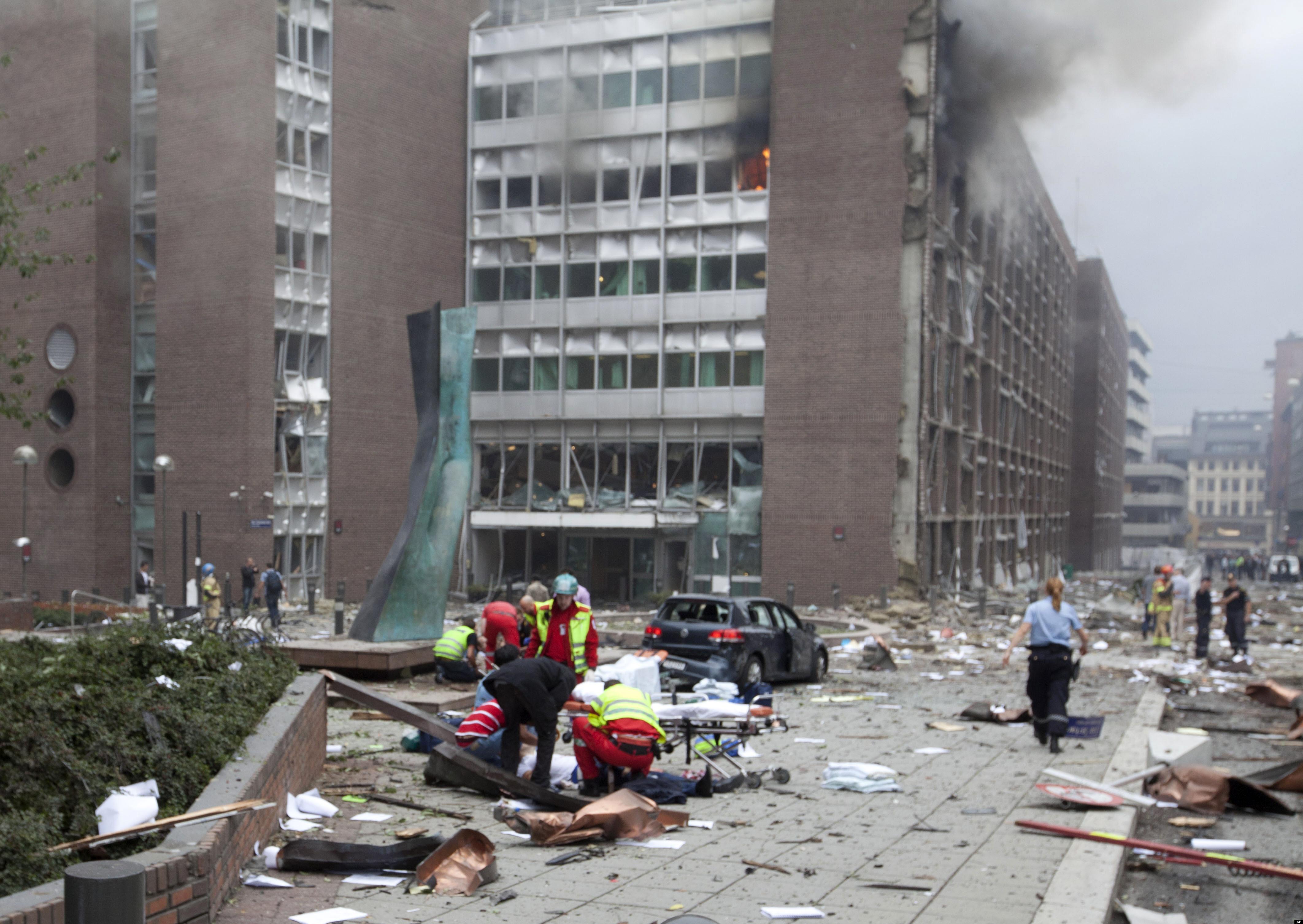 Oslo bomb area