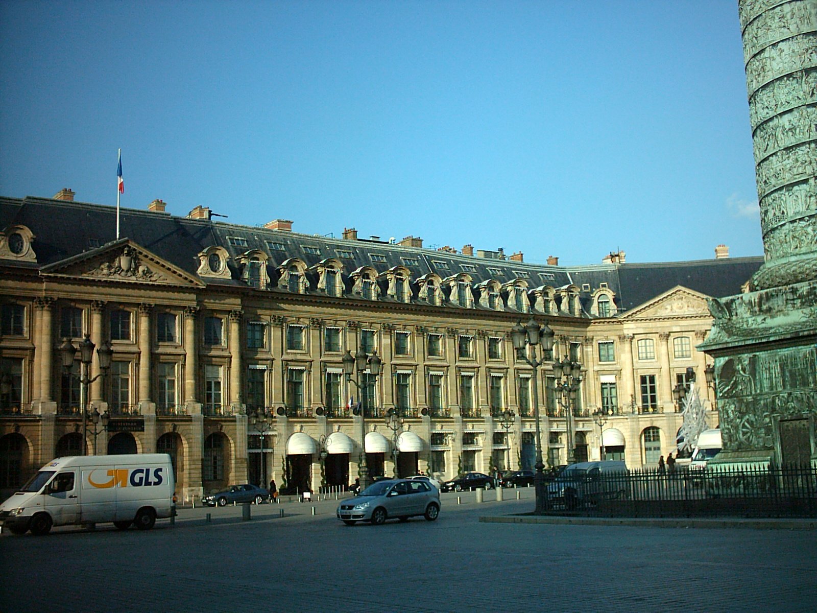 The Ritz Hotel on Place Vendome in Paris