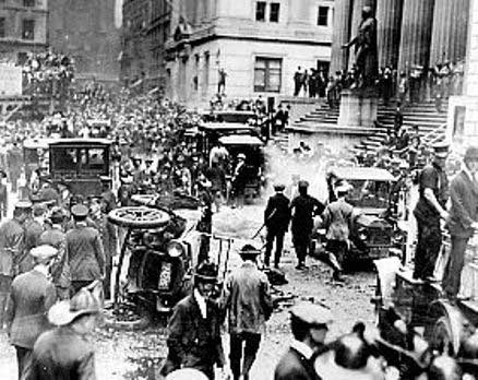 wall street bomobed Sept. 16, 1920