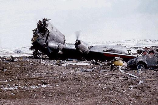The remains of United Airlines Flight 629. 44 passengers and crew died when a 25-stick dynamite bomb exploded in Cargo Bay 4, 11 minutes after take-off.