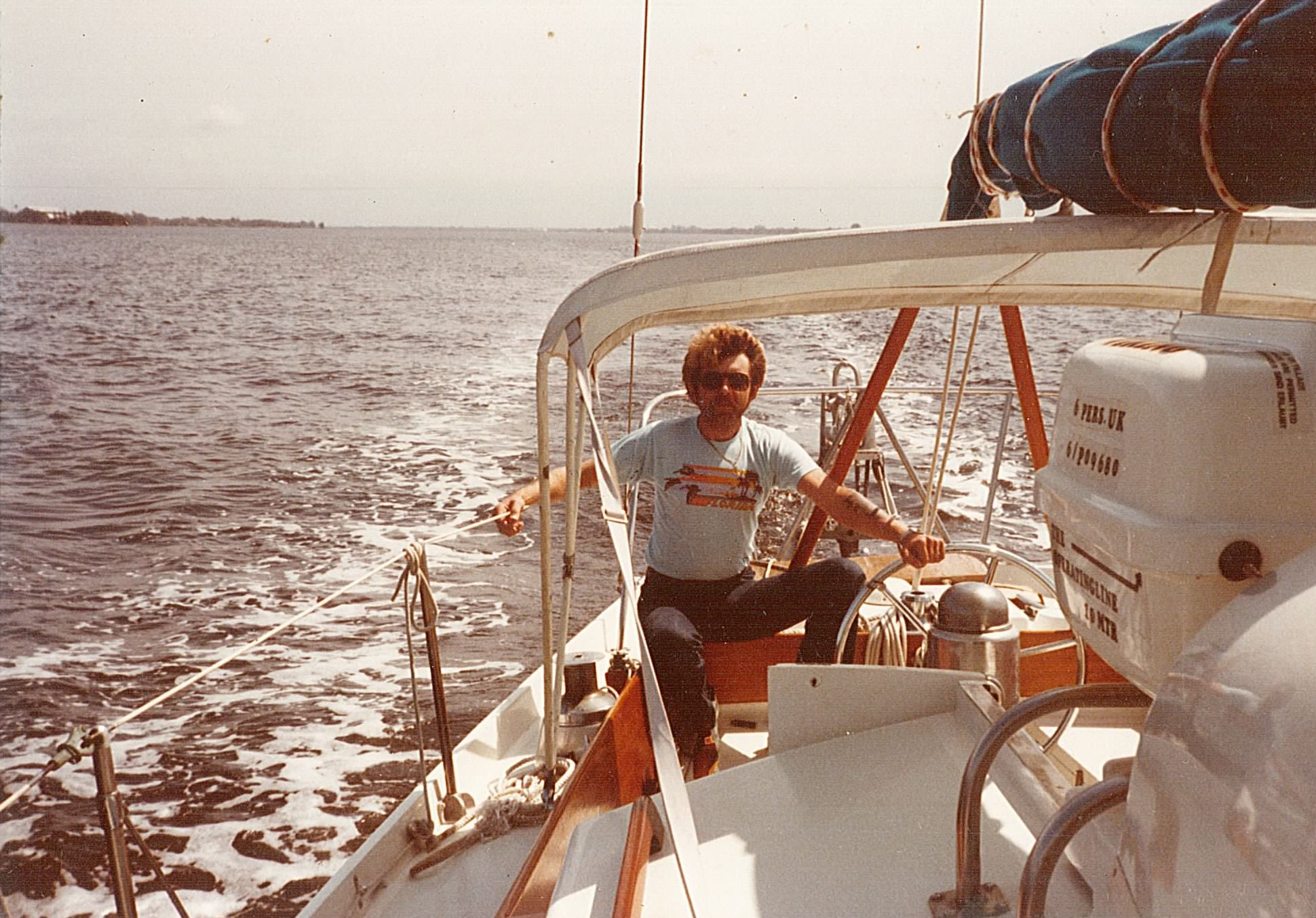 Taking Mr. T across Tampa Bay after purchase in March of 1983