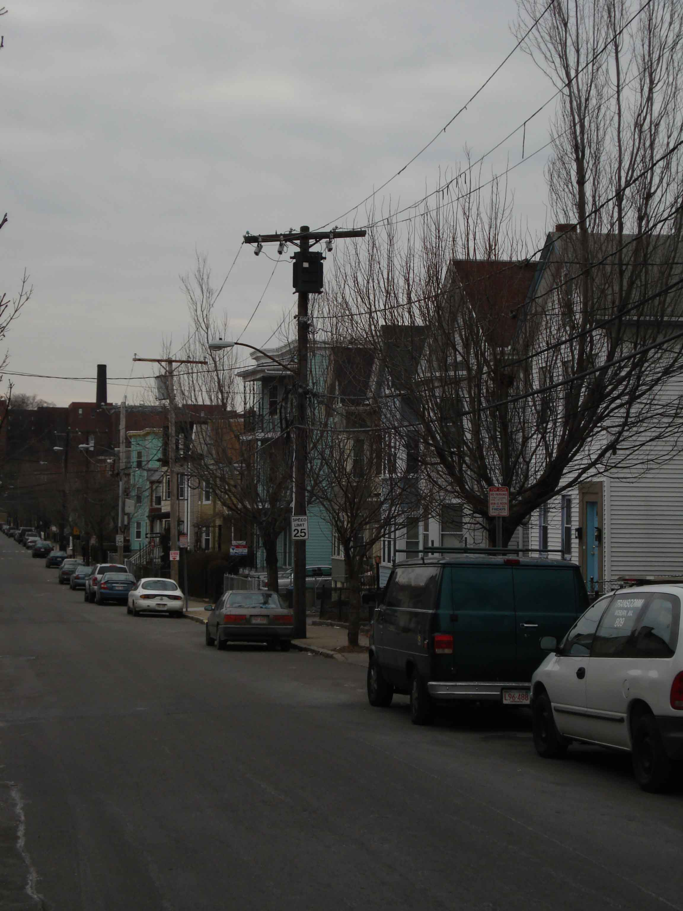 Marshall St. in Somerville, headquarters of the Winter Hill gang's Somerville faction